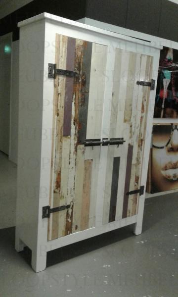 k03 witte sloophouten kast slaapkamerkast sloophout opbergkast witte kast inlegkast opbergkast hangkast 1