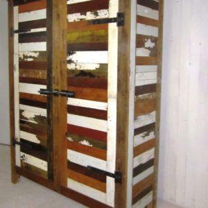 k06 witte sloophouten kast slaapkamerkast sloophout opbergkast witte kast inlegkast opbergkast hangkast