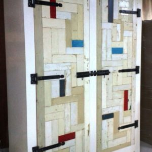 k08 witte sloophouten kast slaapkamerkast sloophout opbergkast witte kast inlegkast opbergkast hangkast