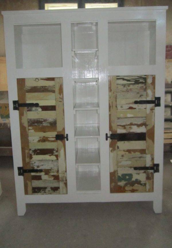 k11 witte sloophouten kast slaapkamerkast sloophout opbergkast witte kast inlegkast opbergkast hangkast