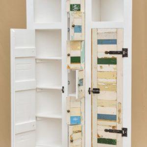 k12 witte sloophouten kast slaapkamerkast sloophout opbergkast witte kast inlegkast opbergkast hangkast 4