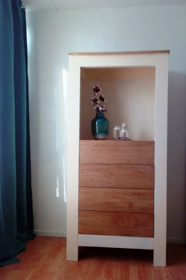 k26 sloophouten kast witte slaapkamerkast opbergkast speelgoedkast op maat gemaakt