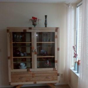 k43 witte sloophouten kast slaapkamerkast sloophout opbergkast witte kast inlegkast opbergkast hangkast