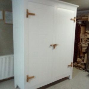 k47 sloophouten kast witte slaapkamerkast opbergkast speelgoedkast op maat gemaakt1