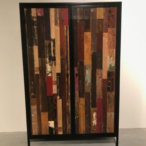 Aliana industriele kast opbergkast slaapkamerkast meubels op maat sloophouten meubelen