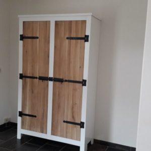 k55 witte sloophout kast met eiken deuren meubels op maat