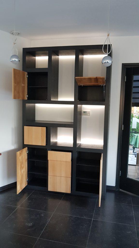 wandkast alex | vakkenkast | woonkamerkast | boekenkast | op maat gemaakt | meubels op maat online